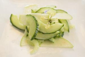 Berasategui 2 salade appel komkommer