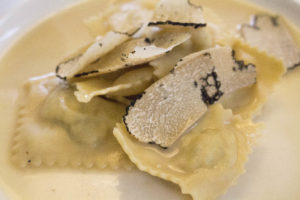 Berasategui 6 ravioli met truffel