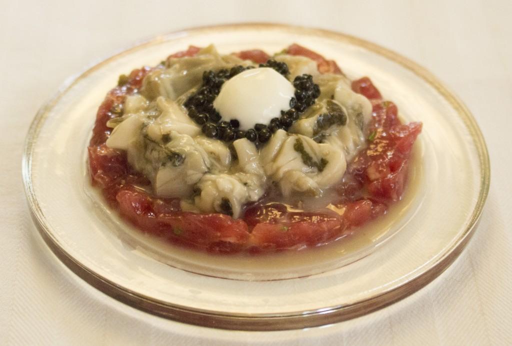 2 Gerecht Ossenhaas, oester en kaviaar