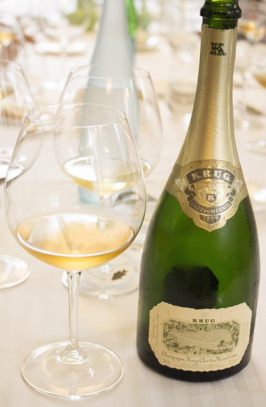 Clos wijngaarden in Champagne
